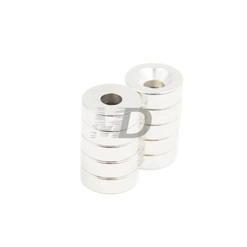 10 шт. супер сильные Круглые неодимовые потайные кольцевые магниты 15 мм x 4 мм отверстие: 4 мм N50 Неодимовый Магнит Бесплатная доставка