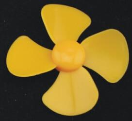 10pcs diameter 57/60mm/2mm hole/4-blade propeller/plastic blades/Toy Accessories/DIY model accessories/Technology model parts