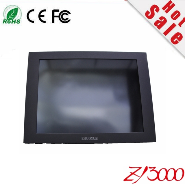great price 10.4 inch 4:3 HDMI VGA input 1024*768  seiral (r232) control metal casing industrial touch screen monitor for PC