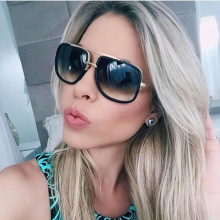 High-Quality Luxury Gradient Lens Sunglasses Men Women Brand Designer Sun Glasses Retro