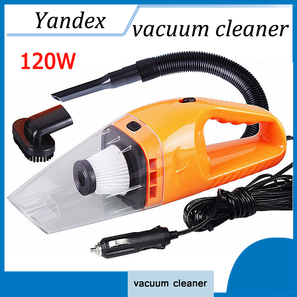 120W Portable Wet And Dry Dual Use Car Vacuum Cleaner With 5m Length Charging Line