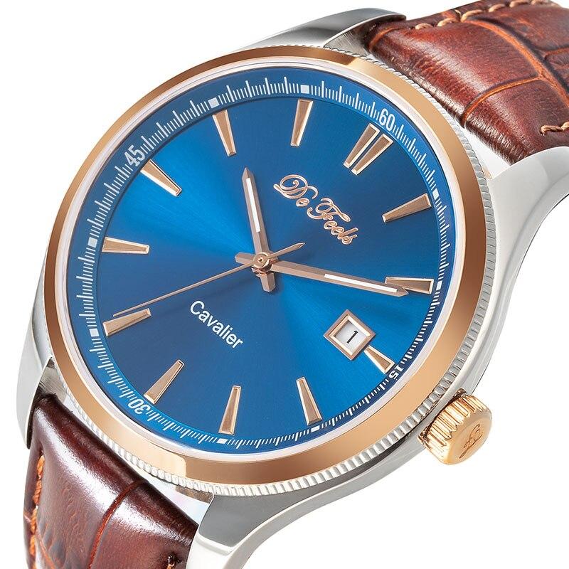 De Feels MIYOTA 821A Movt Men Classic Automatic Mechanical Watches Sapphire Crystal Glass Luminous 50 Bar Waterproof Wristwatch