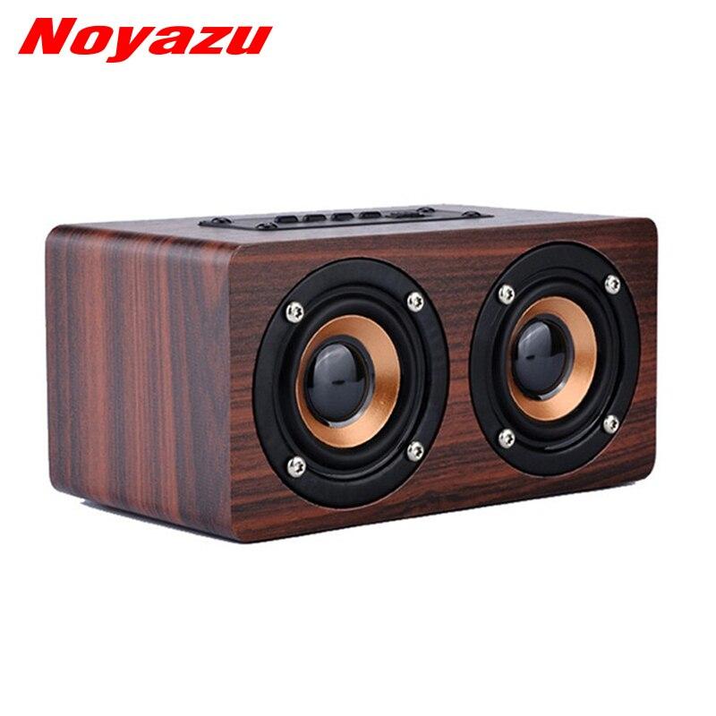 Noyazu Mini Soundbar Portable Speaker Wood Wireless Bluetooth Dual Surround Loudspeaker Usb Charging B Altovaz