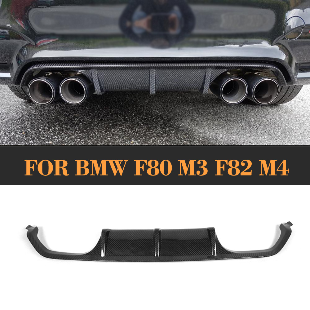 Carbon Fiber Auto Rear Bumper Lip Diffuser for BMW F80 M3 F82 F83 M4 2014 -2017 Standard And Convertible P Style carbon fiber nism style hood lip bonnet lip attachement valance accessories parts for nissan skyline r32 gtr gts