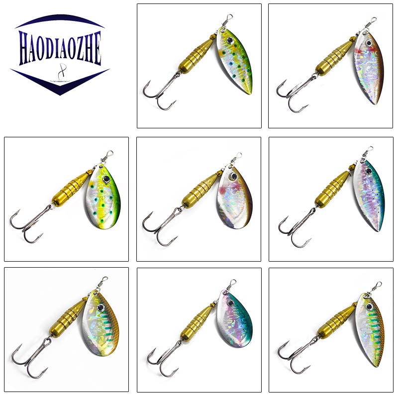 1Pcs Spinner Spoon Fishing Lure 6.5cm 7.5cm 8.5cm Rotating Metal Sequins Bait Crankbait Isca Artificial Hard Bait Fishing Tackle