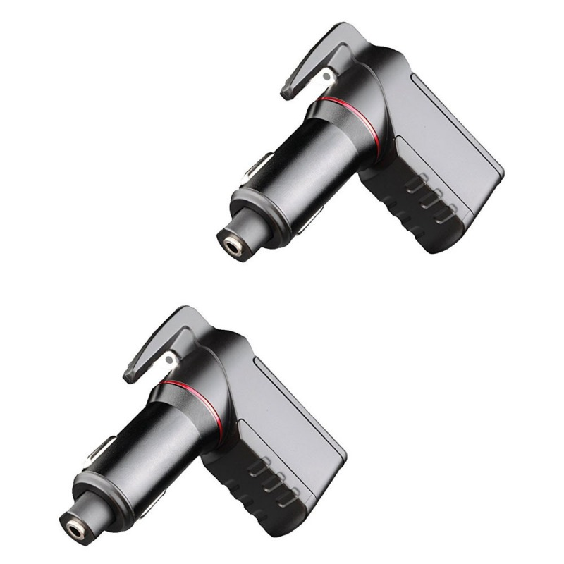 Window Breaker Punch Seat Belt Cutter Hammer USB Emergency Escape Tool Life-Saving Rescue Car Charger Spring Loaded