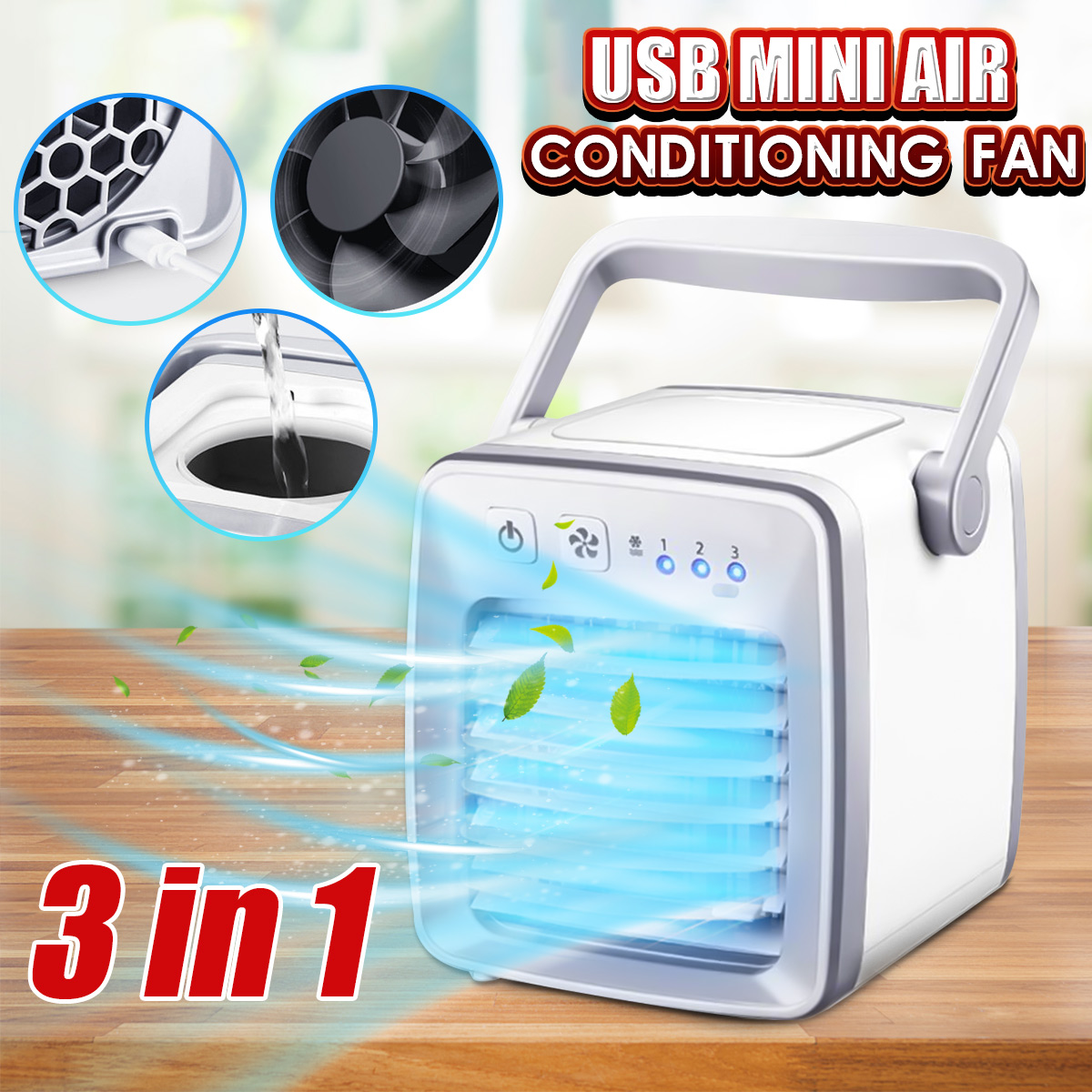 Home USB Mini Air Conditioning Fan Air Cooler Portable Desktop Outdoor Summer Cooling Fans 80w air conditioning fans air cooling
