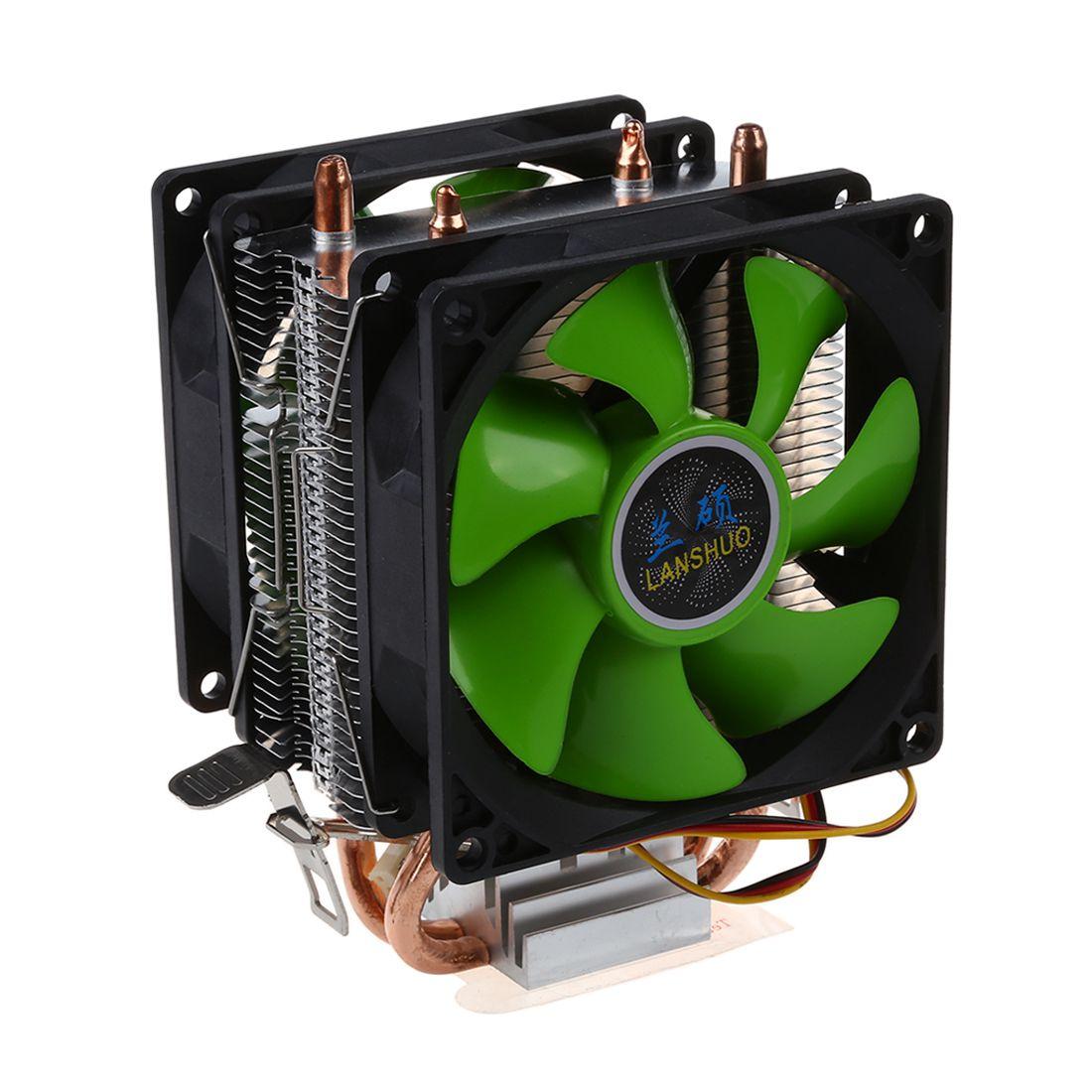 Dispositivo di raffreddamento della CPU Silenziosa Ventola Per Intel LGA775/1156/1155 AMD AM2/AM2 +/AM3