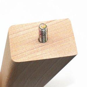 Image 3 - 4pcs di Legno di Faggio di Conici di Ricambio Divano Divano Sedia Pouf Divano a Due Posti Da Tavolo Cabinet Mobili In Legno Piedi Mobili In Legno Gambe