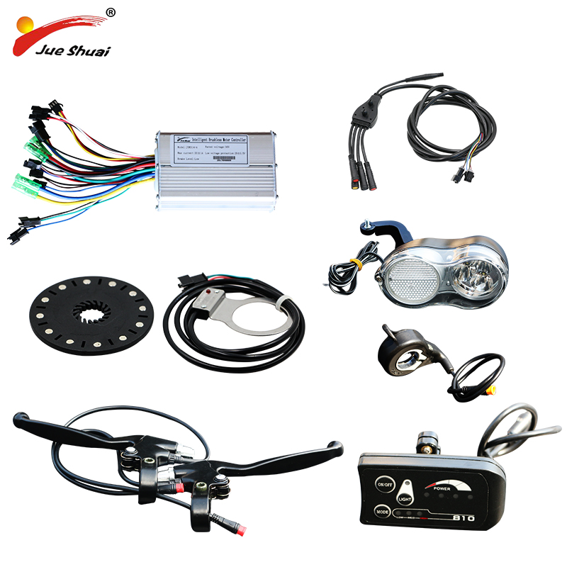jueshuai Electric Bike 36V Bicycle Parts Brushless Controller Display Thumb Throttle for Motorcycle Electric Bicycle Accessories bafang ebike thumb throttle 36v 48v 72v finger thumb throttle e bike speed throttles electric bicycle hub drive motor parts