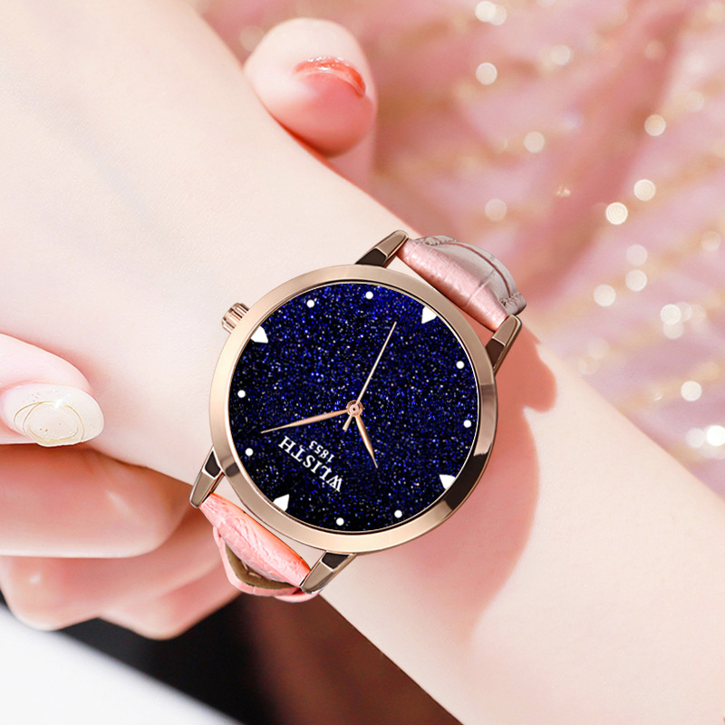 Luxury Starry Sky Women Watches Fashion Ladies Dress Wrist Watches Leather Style Waterproof Clock Female relogio Feminino 2018 1
