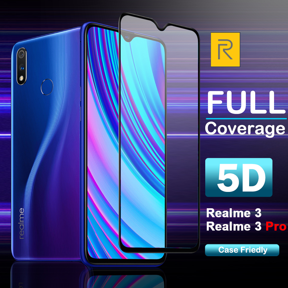 Protective Case For OPPO Realme 3 Pro Screen Protector Full Tempered Glass film For Realme 3 A9X A9 F11 AX5S A7N Reno Lite image