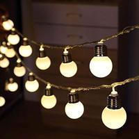 Batterie Betrieben 10/20/40 LED G50 Globe Birne Girlande String Lichter Im Freien Wasserdichte Weihnachten Hochzeit Garten String girlande-in LED-Kette aus Licht & Beleuchtung bei