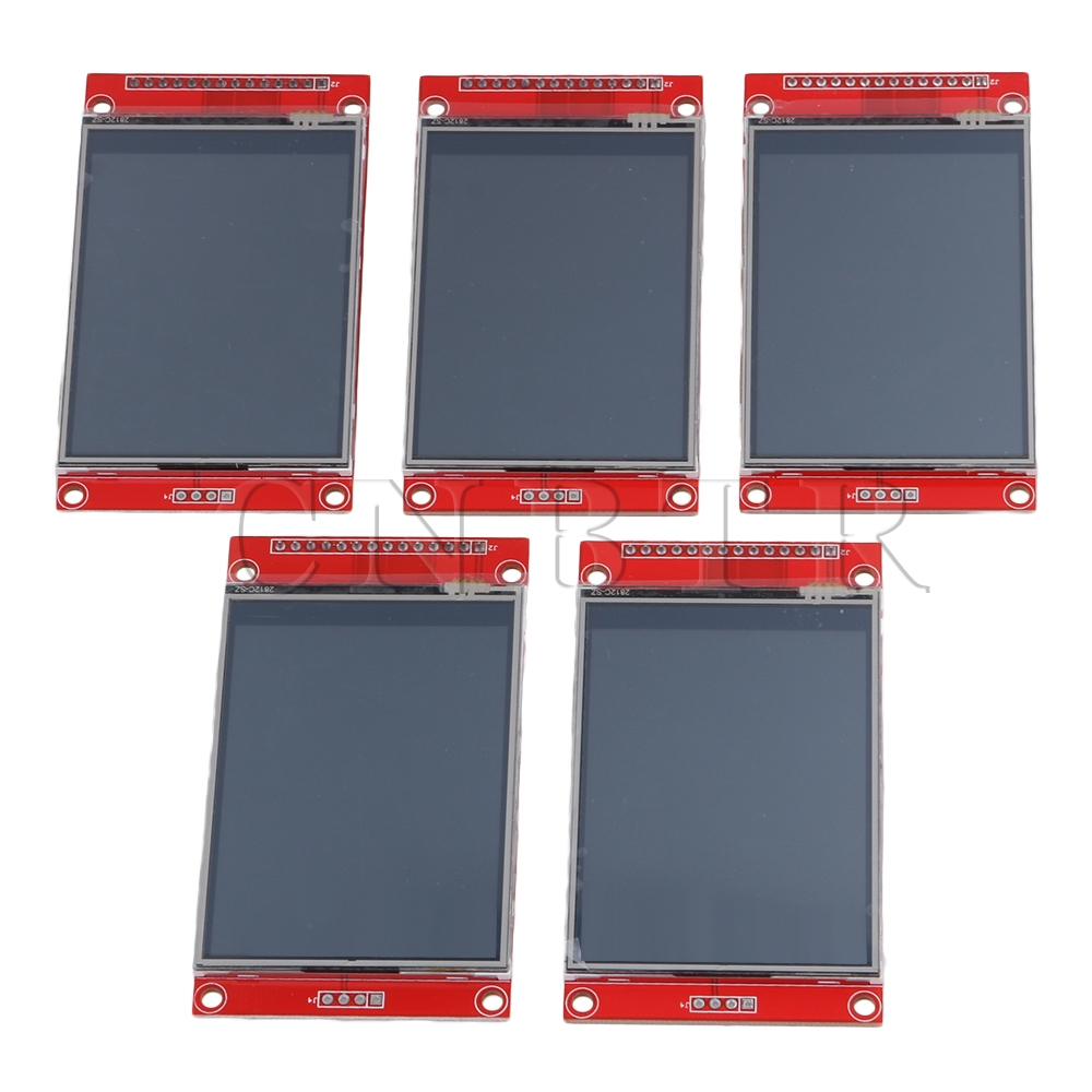 CNBTR Red 240 x 320 Resolution 2.8 SPI TFT LCD Color Touch Panel Serial Port Module with PBC ILI9341 Pack of 5 CNBTR Red 240 x 320 Resolution 2.8 SPI TFT LCD Color Touch Panel Serial Port Module with PBC ILI9341 Pack of 5