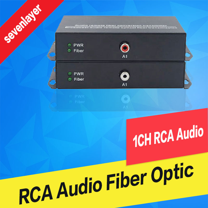 1ch RCA Audio To Fiber Optic Digital Audio Converter Stereo Audio Over Fiber Optic Extender Converter For Broadcast System