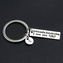 Drive Safe Handsome Keychain/Couples Keychain/Engraved Keych