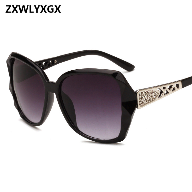 ZXWLYXGX 2018 Vintage Big Frame Mirror Sunglasses Women Brand Designer Gradient Lens High Quality Sun Glasses Oculos De Sol