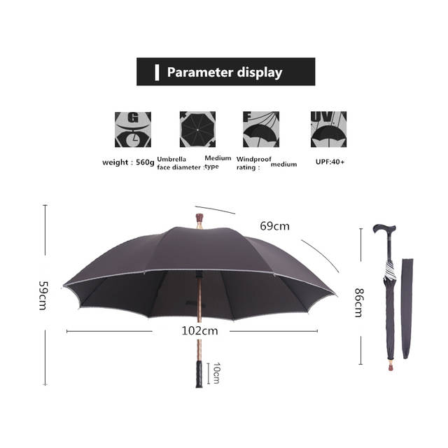 aff88ef8f4877 NX Walking Stick umbrella cane creative long umbrella men straight handle  super strong against the wind christmas umbrellas cane-in Umbrellas from  Home ...