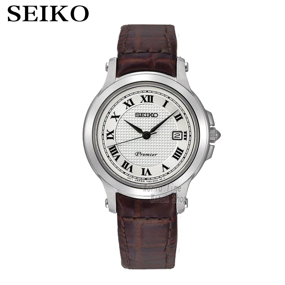 Seiko Watches Quartz Silver Dial Stainless Steel Case With Brown Leather Strap Women Watch SXDE01P2 brown strap thin case branded design watches no name japan quartz machine