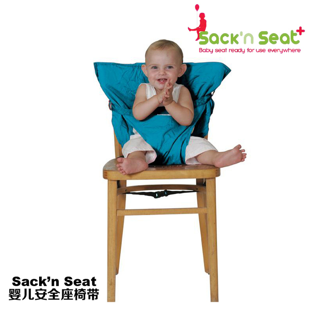 Sack N Seat Baby Infant Toddler Foldable Safety Dinner Feeding High Chair