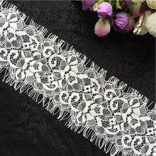 3 m / lot exquisite black and white eyelash lace fabric DIY clothing accessories width 7 cm GRL0336