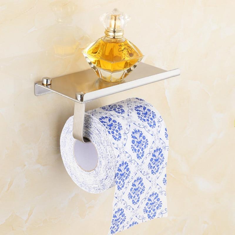 New Stainless steel 304 bathroom paper phone holder with shelf bathroom  Mobile phones towel rack toilet. Popular Bathroom Phone Holder Buy Cheap Bathroom Phone Holder lots