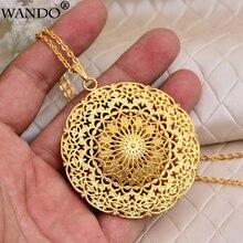 WANDO collier avec pendentif de dubaï, éthiopie, afrique, inde, or, soleil, bonne chance, islamique, chaîne en Polyester, bijou pour femmes