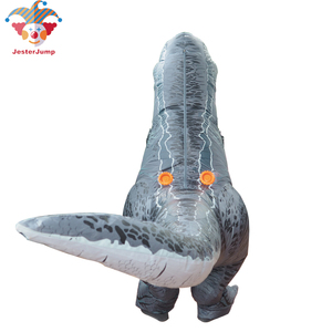 Image 2 - Disfraz de dinosaurio T REX Velociraptor para adultos y niños, Cosplay de Anime de fantasía, Raptor de dinosaurio inflable, Disfraces de Halloween para mujeres