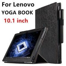 Libro cubierta elegante de cuero de imitación de protección case para lenovo yoga tablet pc para el libro de yoga 10.1 pulgadas pu protector de la manga case cubre