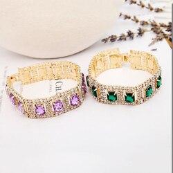 YFJEWE 2018 New Fashion Jewelry Manufacturers Selling Shiny Combination Rhine Stone Crystal Bracelet Women Wedding Gifts B021