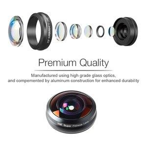 Image 5 - Apexel ユニバーサル魚眼レンズ 238 度スーパーフィッシュアイ 0.2X フルフレーム広角レンズ iphone × 7 8 6 6 s プラス xiaomi redmi