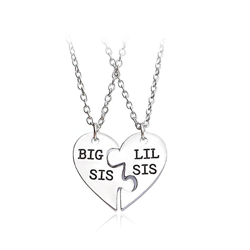 Самое лучшее ожерелье сестры, два в одном, съемная модная подвеска, ожерелье сестры-двойки, лучший подарок
