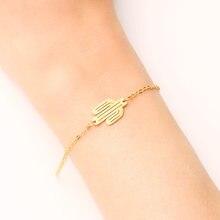 Браслет DOTIFI из нержавеющей стали для женщин, женский браслет с искусственным КАКТУСОМ, обручальные украшения для влюбленных