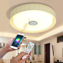 hot deal buy bluetooth music ceiling light ceiling lights led modern lights for living room study room guest room veayas