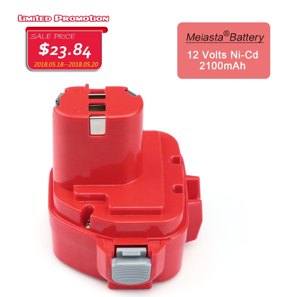 MELASTA 12v NiCd 2100mAh Battery Replacement Battery for Makita 1220 PA12 1222 1233S 1233SA 1233SB 1235 1235A 1235B 192598-2 new rechargeable battery for makita 12v pa12 2000mah ni cd replacement power tool battery for makita 1220 1222 1233s 1233sb t10