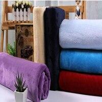 1yard * 160 cm Düz renk çift taraflı kalınlaşmış kadife kristal kadife battaniye Pijama bebek yastık yapmak için uygun ve böylece