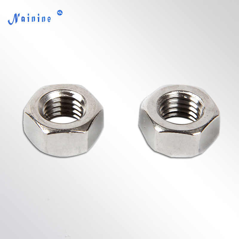 [M1.6 M2 M2.5 M3 M4 M5 M6 M8 M10] DIN934 Metric Thread Hex Nut Hexagon Nuts 304 Stainless Steel