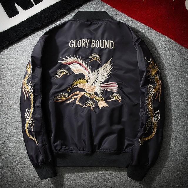 US $59 0 |2018 New Spring Black Embroidery Yokosuka Japan Jacket Men  Streetwear Brand Clothing-in Jackets from Men's Clothing on Aliexpress com  |