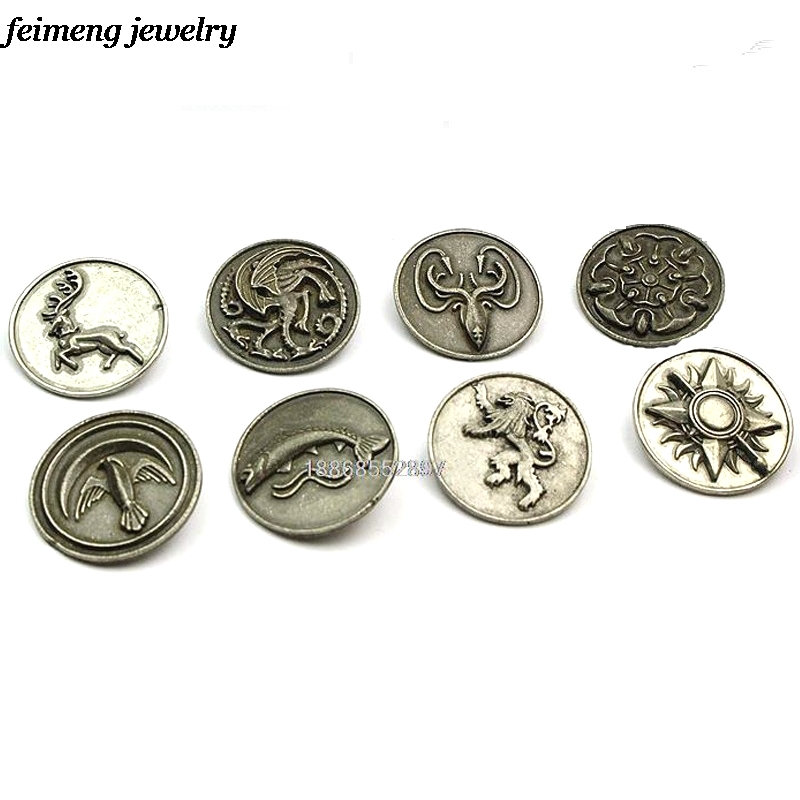 9 Style Vintage Game Of Thrones Brooches Song of Ice and Firs