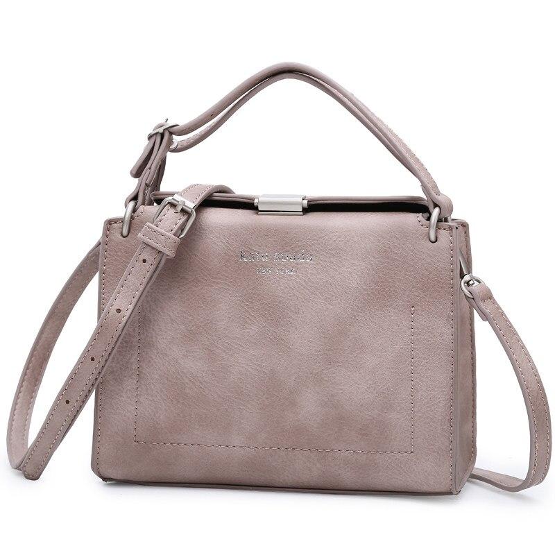 Vintage Box type Square Shoulder Bag Women Chic Lock Japan Style Simple Plain Bag Ladies Designer