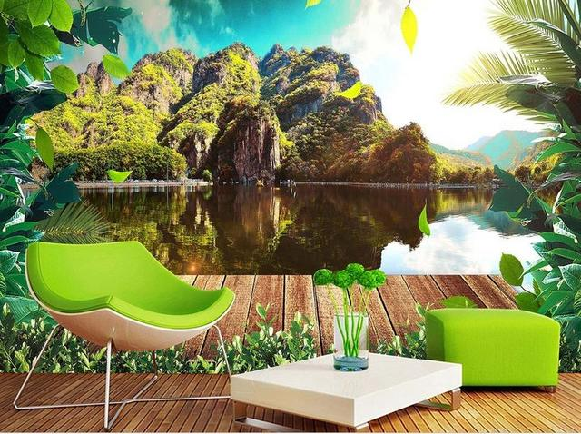 Custom 3d Nature Mural Wallpaper Nature Scenery For Walls: Modern Beautiful 3D Wall Murals Wallpaper HD Nature