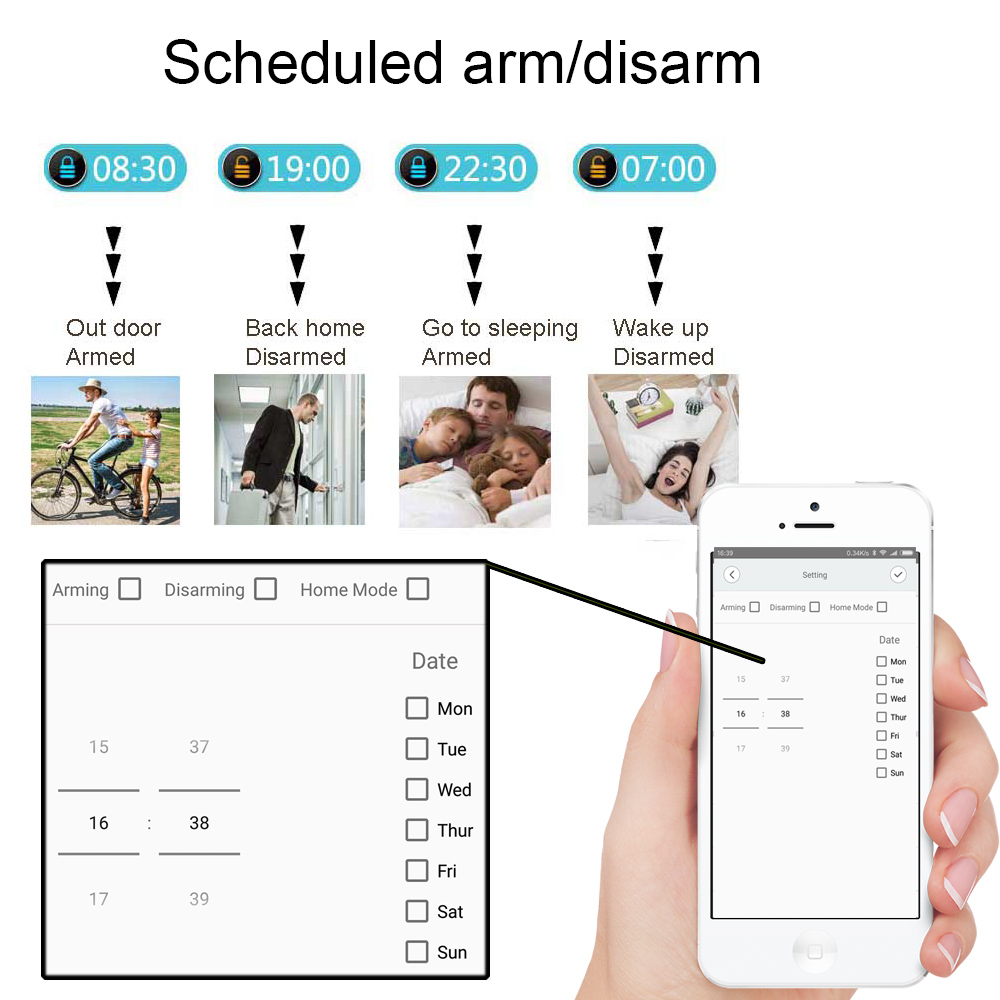 Image 2 - 2.4G smart home security home security  wifi alarm system Android/IOS APP Smartphone App smart host V10-in Alarm System Kits from Security & Protection