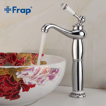Frap New Basin Faucets Brass Bathroom Faucet Silver Mixer Tap Single Handle Hot & Cold Washbasin Tap torneiras banheiro Y10173