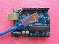 UNO R3 de Arduino (con LOGO) 1 UNIDS UNO R3 MEGA328P ATMEGA16U2 + 1 UNIDS cables