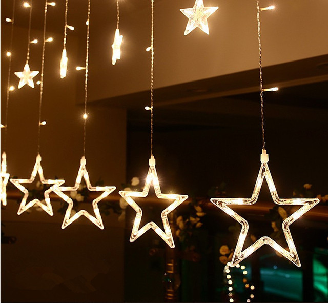 christmas lights flash lamps all over the sky star waterproof outdoor neon ktv bar decoration led