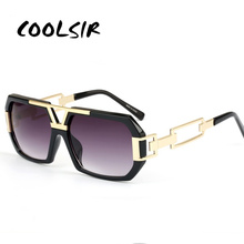 COOLSIR Fashion Sunglasses Men Women 2019 Luxury Brand Designer Sun Glasses For Male Ladies Gradient UV400 Retro Oculos