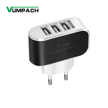 EU US 3 Ports USB Charger 3A Portable Mobile Phone Chargers