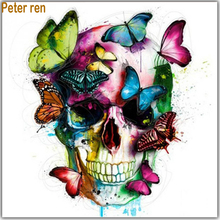 Peter ren Diamond painting DIY Crafts art embroidery Halloween 5d Square&Round mosaic icons Butterfly skull head