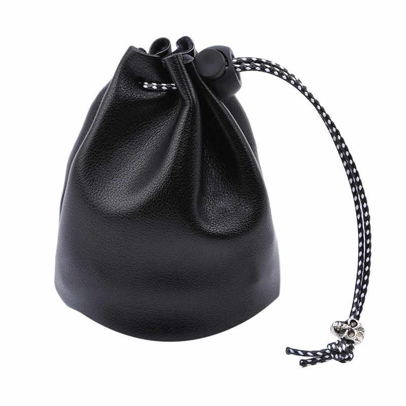 Lindo monedero con cordón para monedas bolso de mano para mujer USD EUR Mini Bolso Negro Bolso pequeño