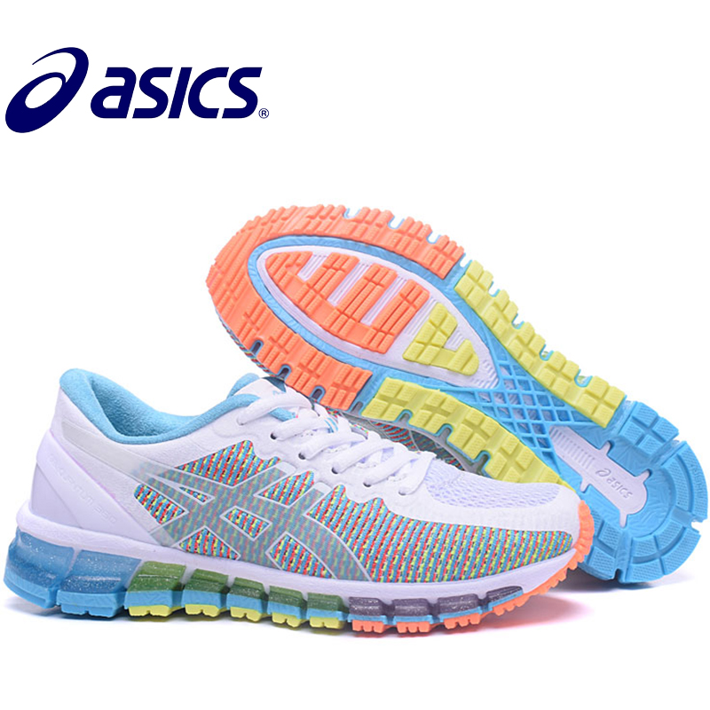 Asics Gel-Quantum 360 Official Woman's Sneakers Athletic Shoes Breathable Stable Running Shoes Outdoor Tennis Shoes Hongniu asics tiger gel lyte iii lc